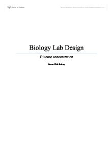 formal lab report title page
